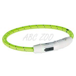LED svetlobna ovratnica M-L, zelena, 45 cm