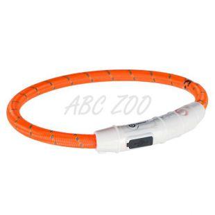 LED svetlobna ovratnica M-L, oranžna, 45 cm