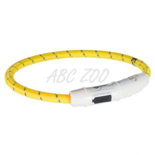 LED svetlobna ovratnica L-XL, rumena, 65 cm