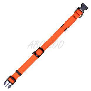Svetlobna ovratnica Flash S/M, oranžna, 30-40 cm