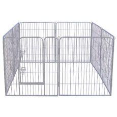 Ograda Dog Park Grey Lux 8 delov, S - 80 x 61 cm
