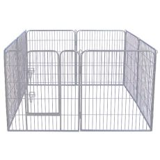 Ograda Dog Park Grey Lux 8 delov, XL - 80 x 91 cm