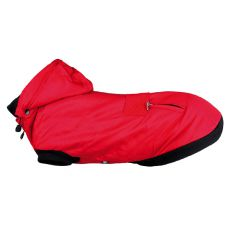 Zimska jakna za psa s kapuco Palermo, rdeča, XS 27 cm