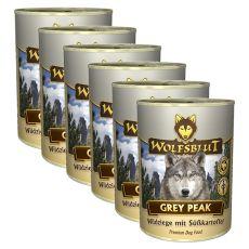 Konzerva WOLFSBLUT Grey Peak PURE, 6 x 395 g