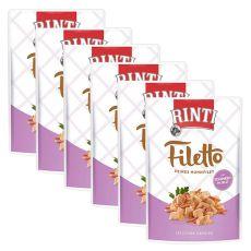 Vrečka hrane RINTI Filetto piščanec + šunka, 6 x 100 g