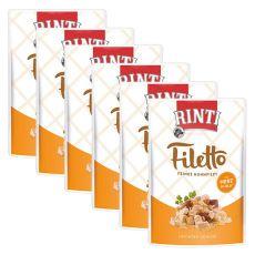 Vrečka hrane RINTI Filetto piščanec + piščančja srca, 6 x 100 g
