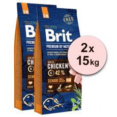 Brit Premium by Nature Senior Small in Medium 2 x 15 kg