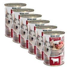 Konzerva New BEWI DOG – goveje meso 6 x 400 g, 5+1 GRATIS
