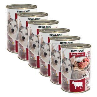Konzerva New BEWI DOG – goveje meso 6 x 400 g, 5+1 GRATIS
