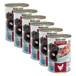 Konzerva New BEWI DOG – perutninska srca 6 x 400 g, 5+1 GRATIS