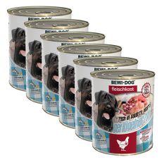 Konzerva New BEWI DOG – perutninska srca 6 x 800 g