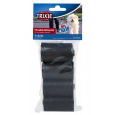 Nadomestne plastične vrečke za iztrebke, črne - 4 x 20 kosov