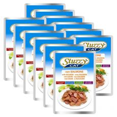 Vrečka mačje hrane Stuzzy cat - losos, 12 x 100 g