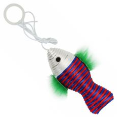 Mačja igrača – riba na vrvici, 10 cm
