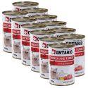 ONTARIO hrana za mačke - piščanec, puran in olje - 12 x400 g