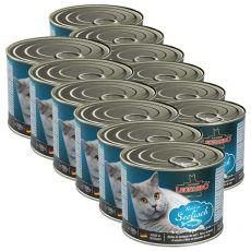 Mokra hrana za mačke Leonardo - riba 12 x 200g