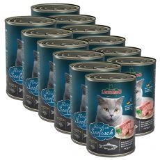 Mokra hrana za mačke Leonardo - riba 12 x 400g