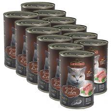 Mokra hrana za mačke Leonardo - jetra 12 x 400g