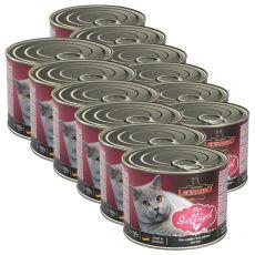 Mokra hrana za mačke Leonardo - perutnina 12 x 200g