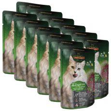 Vrečka hrane Leonardo kenguru in mačja trava, 12 x 85 g
