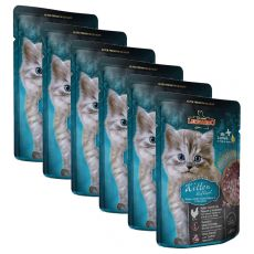 Vrečka hrane Leonardo Kitten, 6 x 85 g