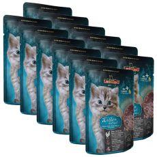 Vrečka hrane Leonardo Kitten, 12 x 85 g
