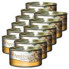 Applaws Cat - konzerva z mačjo hrano s piščancem, 12 x 70g