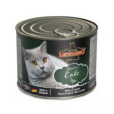 Konzerva mačje hrane Leonardo, raca 200 g