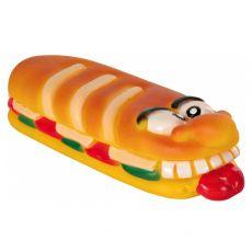 Pasja igrača – piskajoča bageta iz vinila, 18 cm