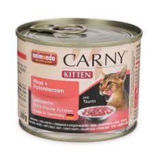 Mokra hrana CARNY KITTEN govedina + puranja srca 200 g