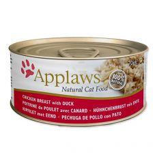 Konzerva mačje hrane Applaws Cat Chicken and Duck, 70 g