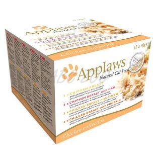 Konzerve mačje hrane Applaws Cat Chicken Selection 12 x 70 g