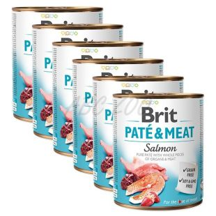 Konzerva Brit Paté & Meat Salmon 6 x 800 g
