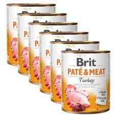 Konzerva Brit Paté & Meat Turkey 6 x 800 g