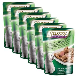 Stuzzy Speciality Dog – piščanec s šunko, 6 x 100 g