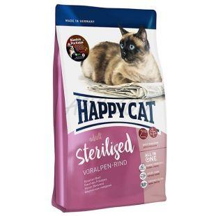 Happy Cat Sterilised Voralpen Rind / Beef 1,4 kg