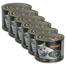 Konzerva mačje hrane Leonardo, raca 6 x 200 g