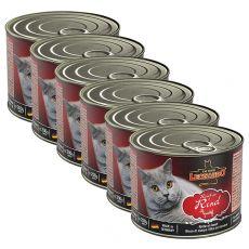 Konzerva mačje hrane Leonardo, govedina 6 x 200 g