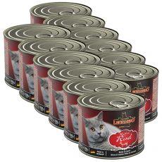 Konzerva mačje hrane Leonardo, govedina 12 x 200 g