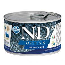 Konzerva Farmina N&D dog Sea Bass & Squid 140 g