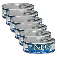 Konzerva Farmina N&D cat Trout, Salmon & Shrimps 6 x 80 g