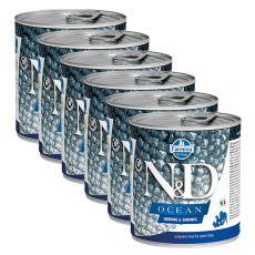 Farmina N&D dog Herring & Shrimps konzerva 6 x 285 g, 5+1 GRATIS