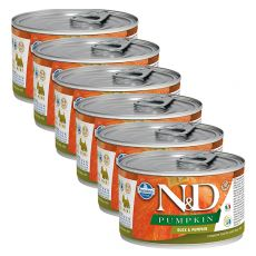 Konzerva Farmina N&D dog Duck & Pumpkin 6 x 140 g, 5+1 GRATIS