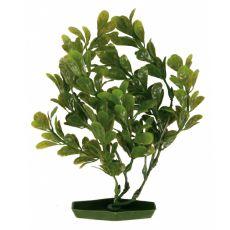 Rastlina za akvarij  - plastična, 25 cm ovalni zeleni listi