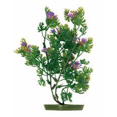 Plastična rastlina za akvarij - viola cvetovi, 28 cm