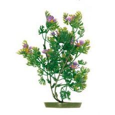 Plastična rastlina za akvarij - viola cvetovi, 17 cm