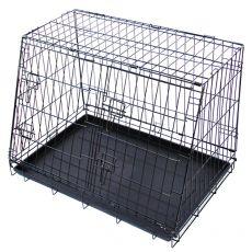Kovinska pasja kletka za avtomobil 79,5 x 56,5 cm, črna