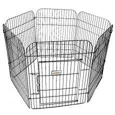 6-kotna ograda za pasje mladiče 65 x 50 cm, črna