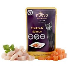 Vrečka NUEVO CAT Adult Chicken & Salmon 85 g