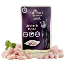 Vrečka NUEVO CAT Adult Chicken & Rabbit 85 g